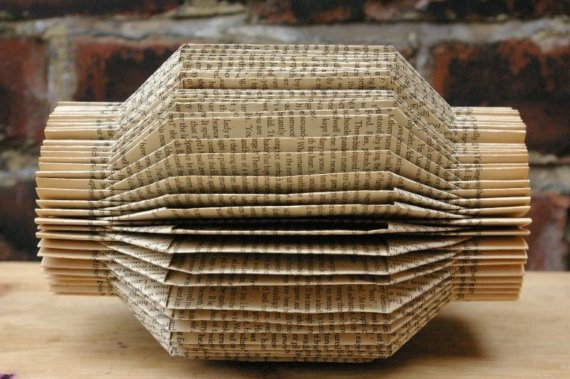 Lantern Book Sculpture