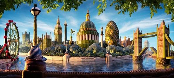 Food Landscapes London Skyline by Carl Warner