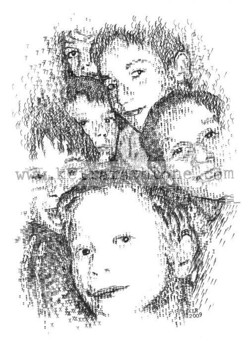 Love Russia Love Music Russian Children Typewriter Art by Keira Rathbone