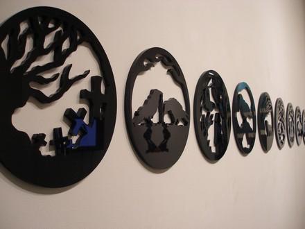 Marta Serna Art Dark Delicate Medallions