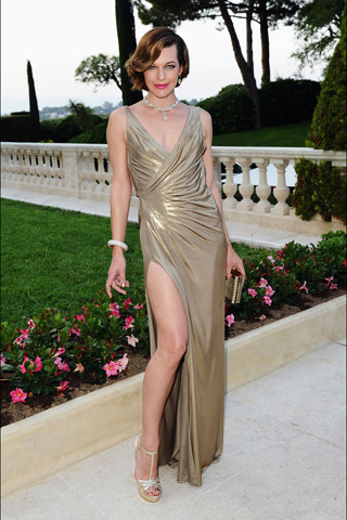 Mila Jovovich amfAR Cinema Against aids Cannes 2011