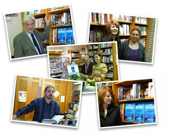 Montage with the Staff from Bestsellers Bookshop