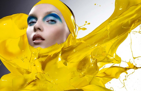 Plaza Paint Yellow High Speed Photography