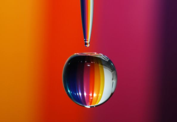 Rainbow Water Drop by Jonny Jelinek