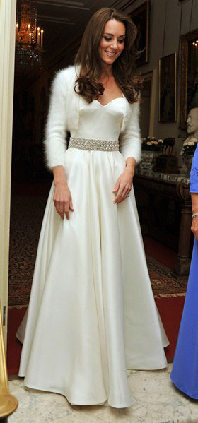 Royal Wedding Reception Gowns UK Kate Middleton