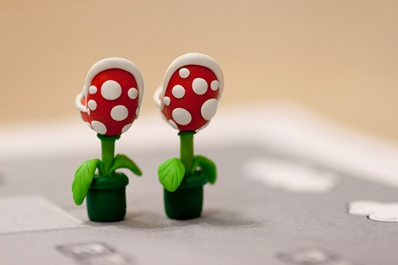 Super Mario Piranha Plant Earrings Pair