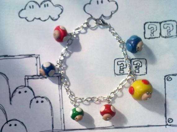 Super Mario Mushroom Bracelet