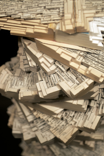 Tower of Babble Book Sculpture Detail by Brian Dettmer