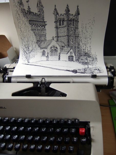 Wimborne Minster Out of the Typewriter by Keira Rathbone