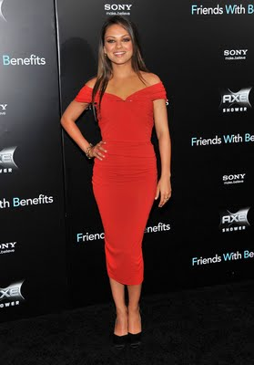 Mila Kunis Wearing Lanvin Dress and Plumps for the Friends with Benefits Premiere in New York