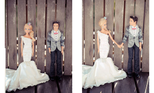 Barbie and Ken Wedding Photo Shoot