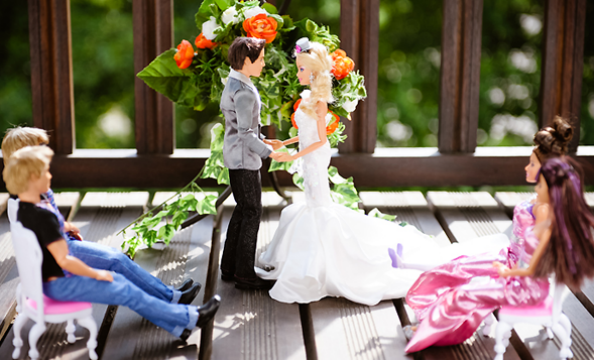 Barbie and Ken Wedding Photo Shoot Wedding Ceremony