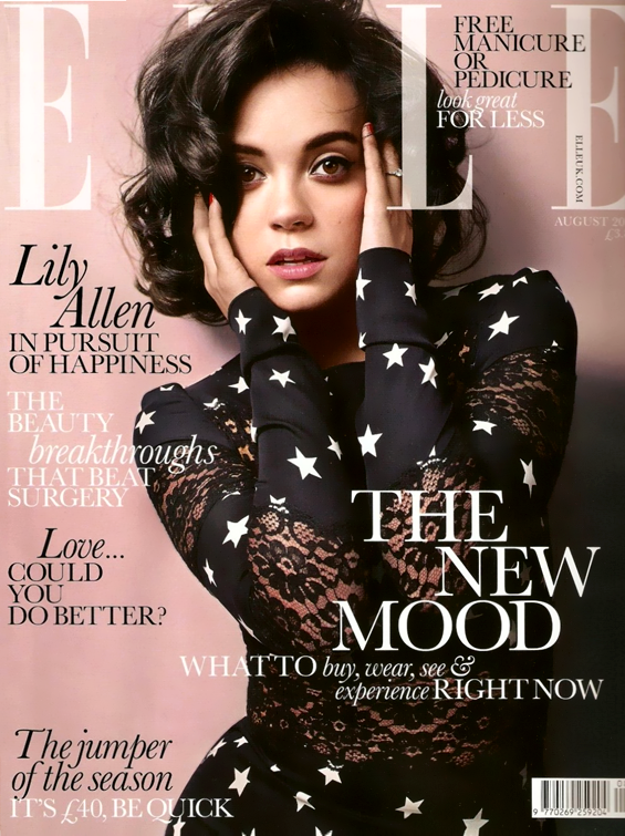Elle UK August 2011 Cover Lily Allen