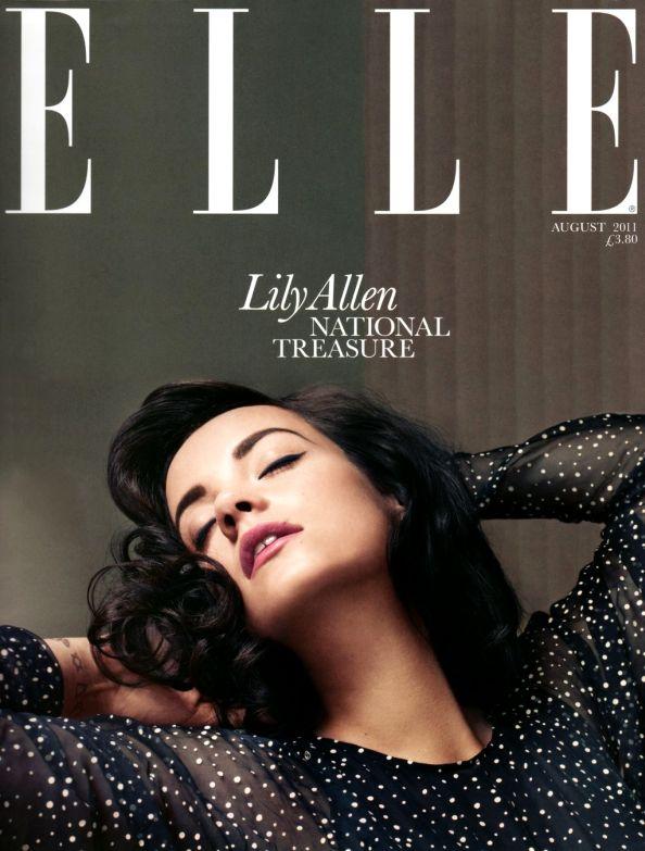 Elle UK August 2011 Lily Allen