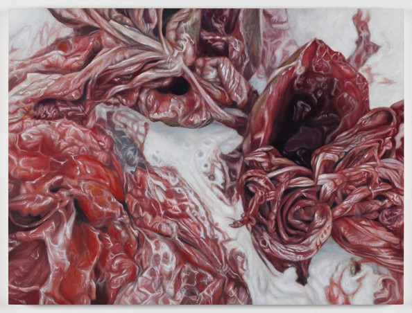 Hibiscus Slide Meat Painting by Victoria Reynolds