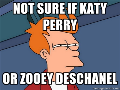 Katty Perry Zooey Deschanel confusion