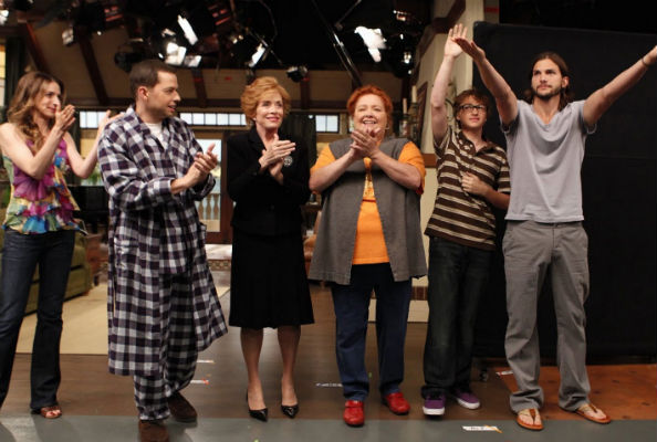 On the set of Two and a half men season 9