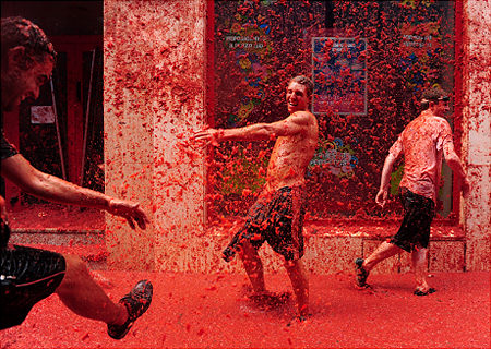 Tomatina Throwing Tomatoes Festival Spain Bunol Valencia 6