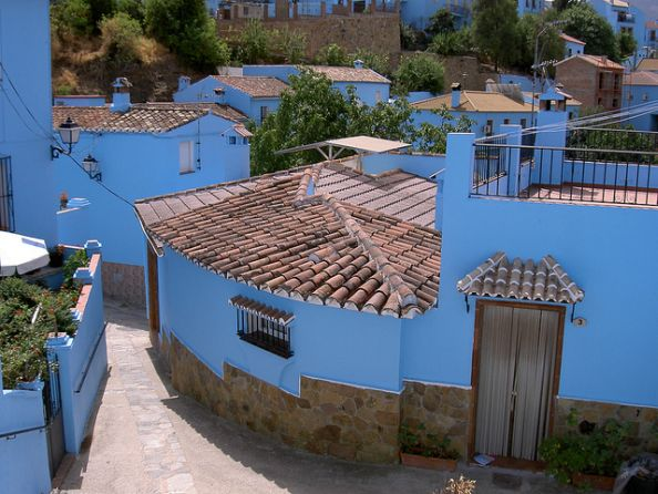 View From The Blue Streets Of Juzcar Spain
