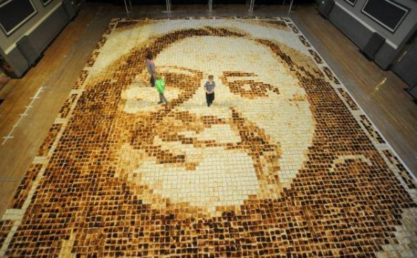 Worlds Largest Toast Portrait
