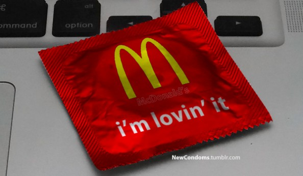 Branded Condoms McDonalds