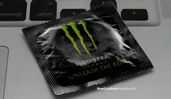 Branded Condoms Monster Energy