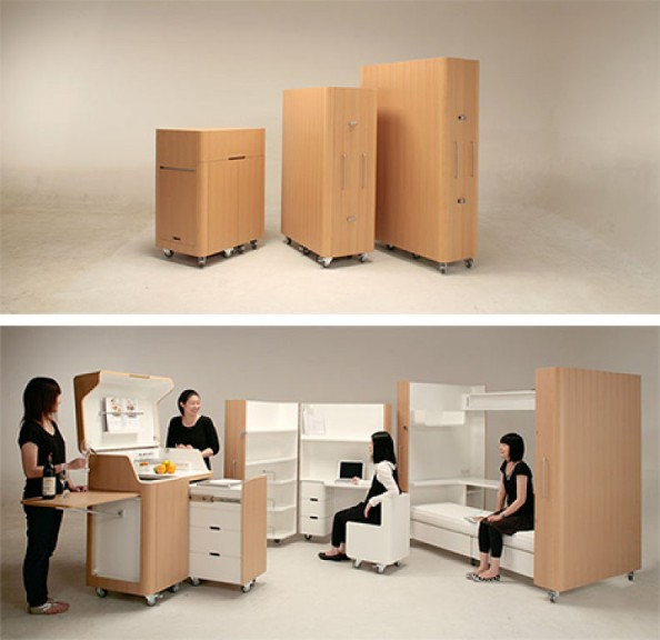 Collapsible Room- Kitchen, Study and Bedroom