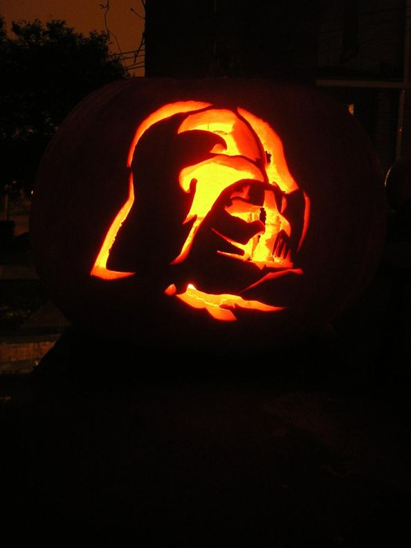 Darth Vader Halloween Pumpkin by reynolds.james.e