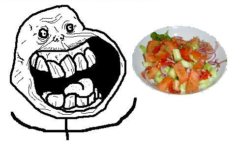 Forever Alone Laughing With Salad