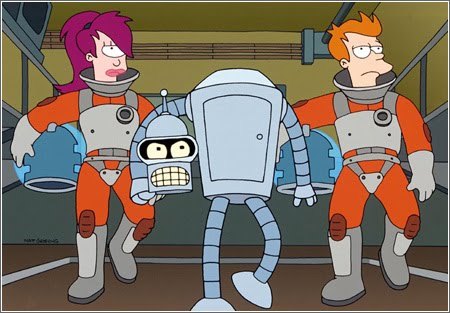 Futurama Crew- Leela, Fry and Bender