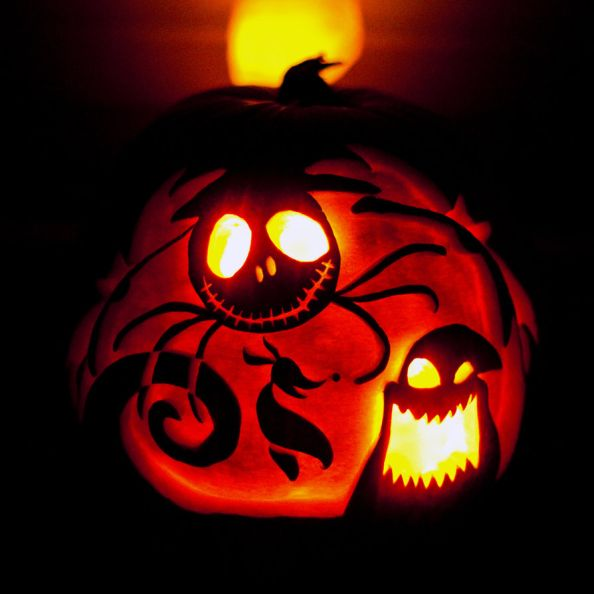 Jack Skellington Halloween Pumpkin Carving by l-eh