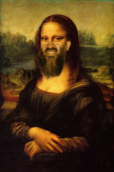 Osama Beard Frenzy Mona Lisa