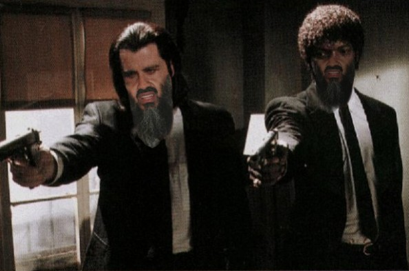Osama Beard Frenzy Pulp Fiction Samuel Jackson John Travolta