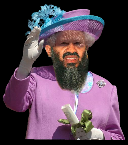 Osama Beard Frenzy British Queen
