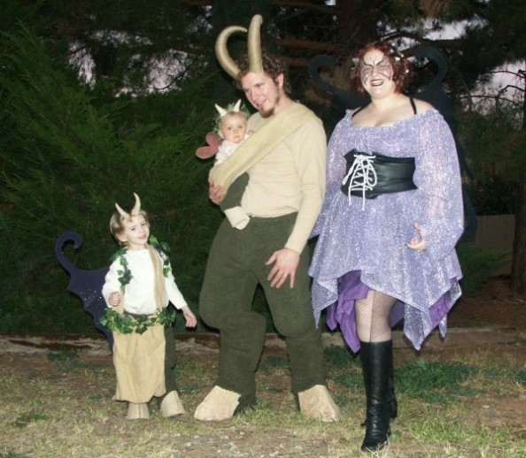 Satyr and Fairy Halloween Costumes