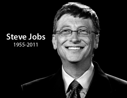 Steve Jobs Worst Death Jokes gates happy