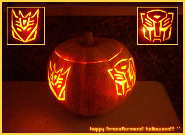 Transformers Halloween Pumpkin by st3rn1