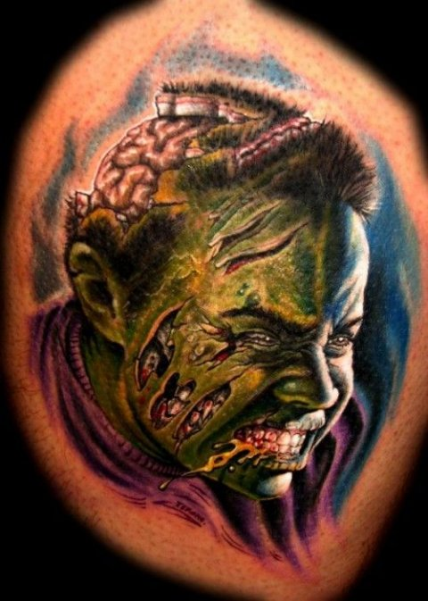 Zombies Monsters Tattoos Halloween10