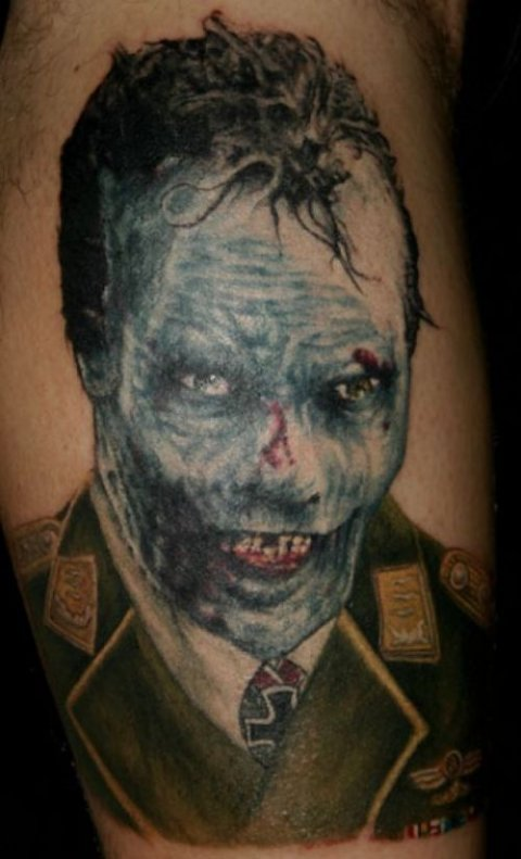 Zombies Monsters Tattoos Halloween Scary