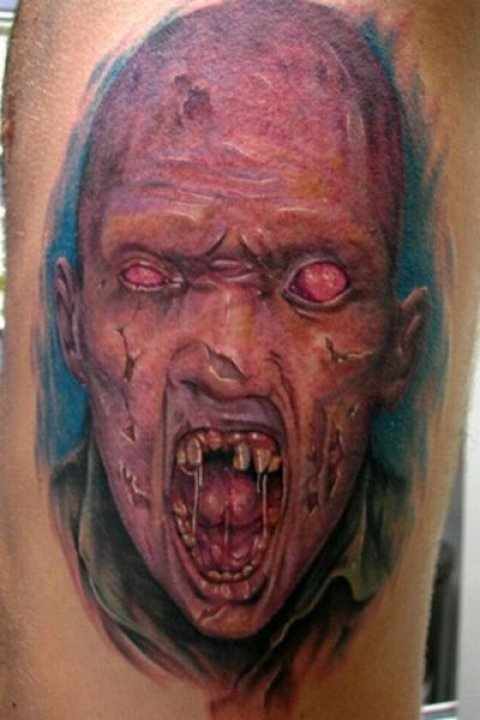 Zombies Monsters Tattoos Halloween Ugly