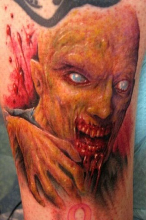 Zombies Monsters Tattoos Halloween Freaky