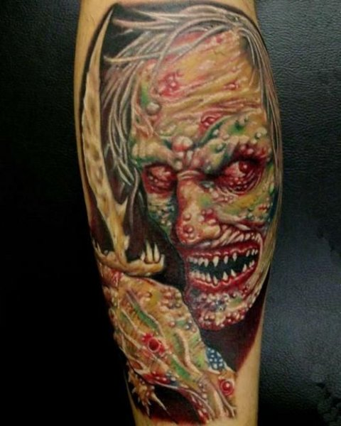 Zombies Monsters Tattoos Halloween2