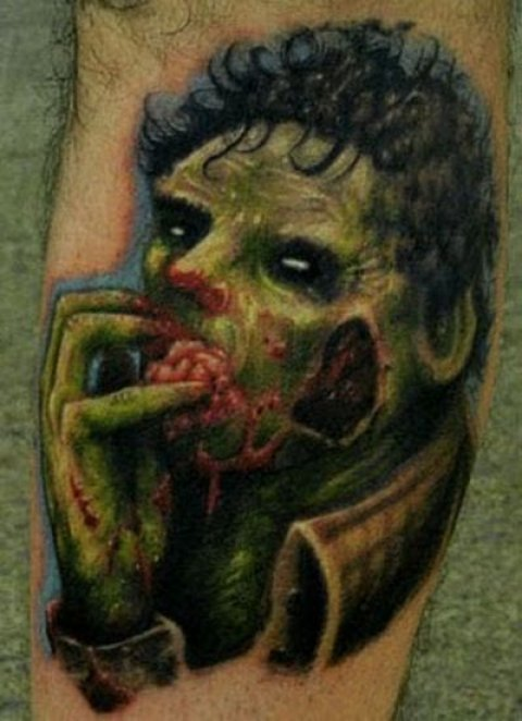 Zombies Monsters Tattoos Halloween Undead