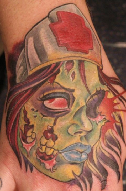 Zombies Monsters Tattoos Halloween Cool Woman