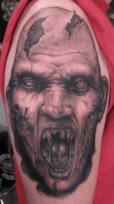 Zombies Monsters Tattoos Halloween Awful