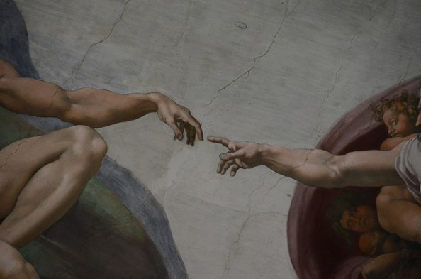 creation of adam michaelangelo