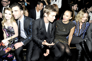 Celebrities front row Versace for H&M Collection November 2011 Fashion Show