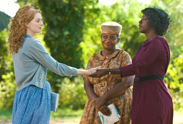 Emma Stone Viola Davis and Minny Jackson in the Help movie 2011