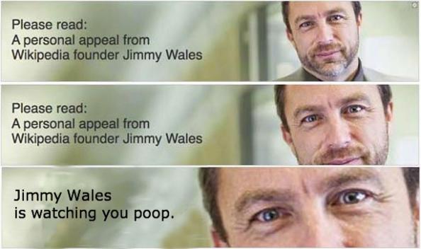 Jimmy Wales Watching You Poop