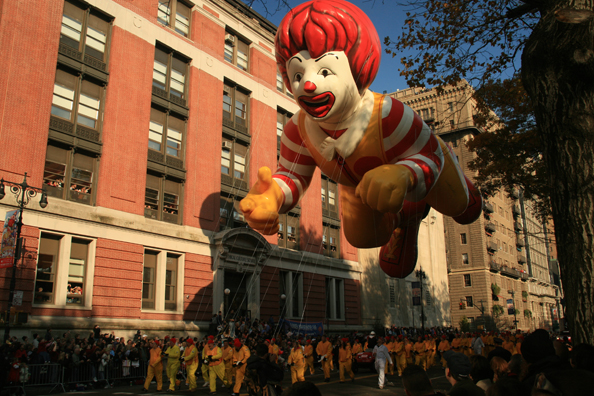 Macy's Thanksgiving Day Parade McDonald's Balloon